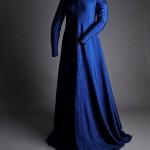 Robe Moyen Age XIVe 14è Soie Costume Virginie Chaverot (Lyon)